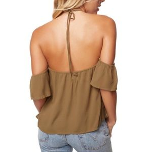 NWT O'Neill Drifter top in olive green